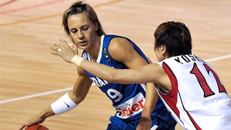 Céline Dumerc, meneur de jeu de l'équipe de France