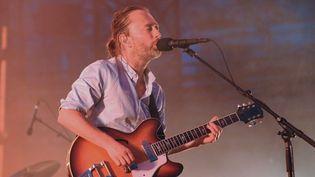 Thom Yorke de Radiohead aux Arènes de Nîmes le 10 juillet 2012.  (Sylvain Thomas / AFP)