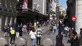 Une des rues de la ville de Madrid (Espagne) le 3 octobre 2020. (OSCAR GONZALEZ / NURPHOTO / AFP)
