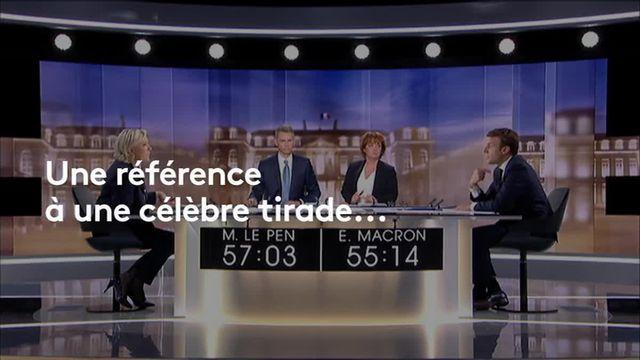 Sophie Montel parodie Marine Le Pen