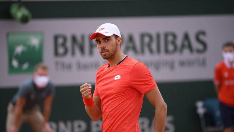 Le Français Benjamin Bonzi à l'occasion des qualifications de Roland-Garros 2020.