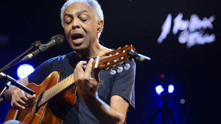Gilberto Gil sur la scène de Montreux (Suisse) en juin 2015  (Laurent Gillieron/AP/SIPA)