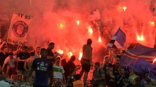 Les supporters de Toulouse lors du match face à Dijon, le 17 août 2019, au Stadium. (PASCAL PAVANI / AFP)