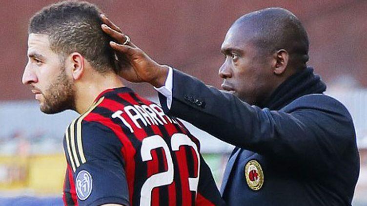 Le joueur du Milan AC Adel Taarabt et son entraîneur Clarence Seedorf