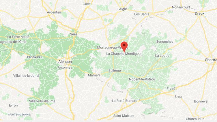 La Chapelle-Montligeon (Orne). (GOOGLE MAPS / FRANCEINFO)