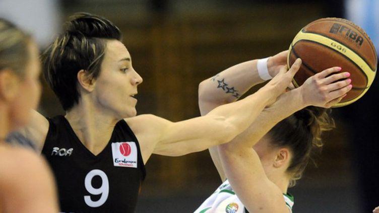 Céline Dumerc (Bourges) (ATTILA KISBENEDEK / AFP)