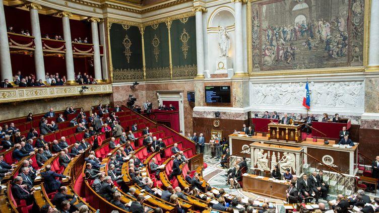 L'hemicycle lors des questions au gouvernement a l'Assemblee Nationale, en février 2017. (MAXPPP)