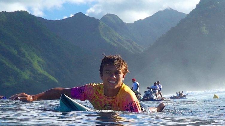 Kauli Vaast lors du Tahiti pro en 2019.