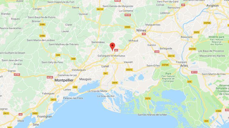 Aigues-Vives, dans le Gard. (GOOGLE MAPS)
