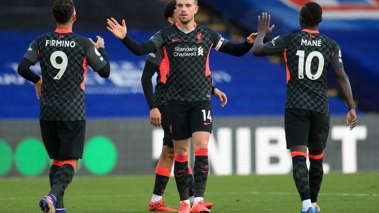 Firmino, Henderson et Mané, tous buteurs contre Crystal Palace  (ADAM DAVY / POOL)