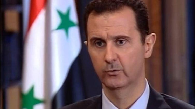 Capture d'écran d'un entretien accordé par Bachar Al-Assad à un média turc et publié sur YouTube par la présidence syrienne. (SYRIAN PRESIDENCY / AFP)