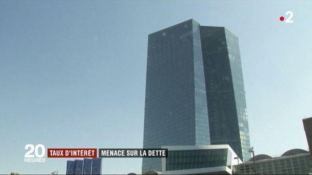 Taux d'intérêt de la BCE : menace sur la dette française