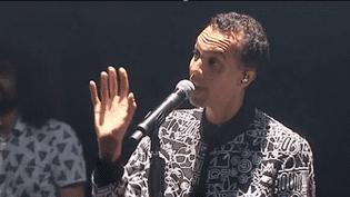 Gaël Faye aux Francofolies de La Rochelle, le 14 juillet 2017  (Culturebox / Capture d'écran)