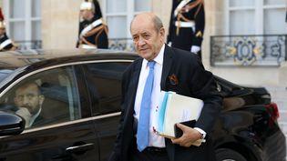 Le ministre des Affaires étrangères, Jean-Yves Le Drian, le 21 février 2018 à Paris. (LUDOVIC MARIN / AFP)