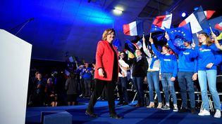 La tête de liste La République en marche (LREM)pour les élections européennes, Nathalie Loiseau, lors d'un meeting à Caen (Calvados), le 6 mai 2019. (DAMIEN MEYER / AFP)