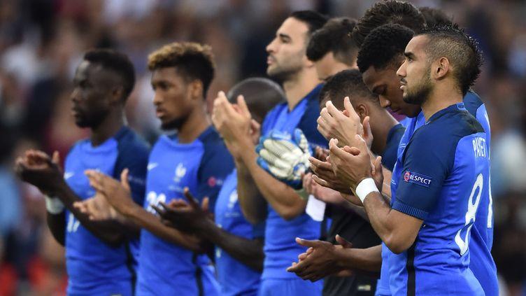 L'équipe de France de football lors du match de l'Euro contre l'Albanie, le 15 juin 2016. (BERTRAND LANGLOIS / AFP)