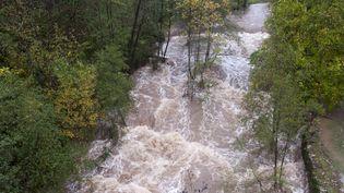 La rivière la Lande à Chassiers (Ardèche), le 22 octobre 2013. (CITIZENSIDE / CLAUDE PETITJEAN / AFP )