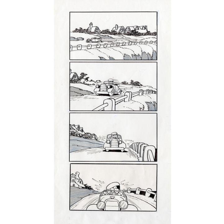 """Planche originale de """"La nouvelle île au trésor"""", Osamu Tezuka, 1947  (Tezuka production)"""