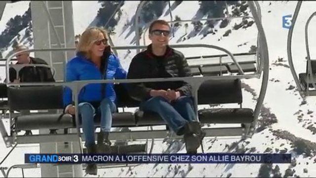 Présidentielle : Macron à l'offensive sur les terres de François Bayrou