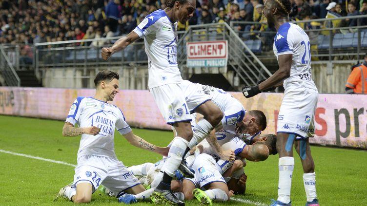 Troyes bat Sochaux et accède aux barrages. (SEBASTIEN BOZON / AFP)