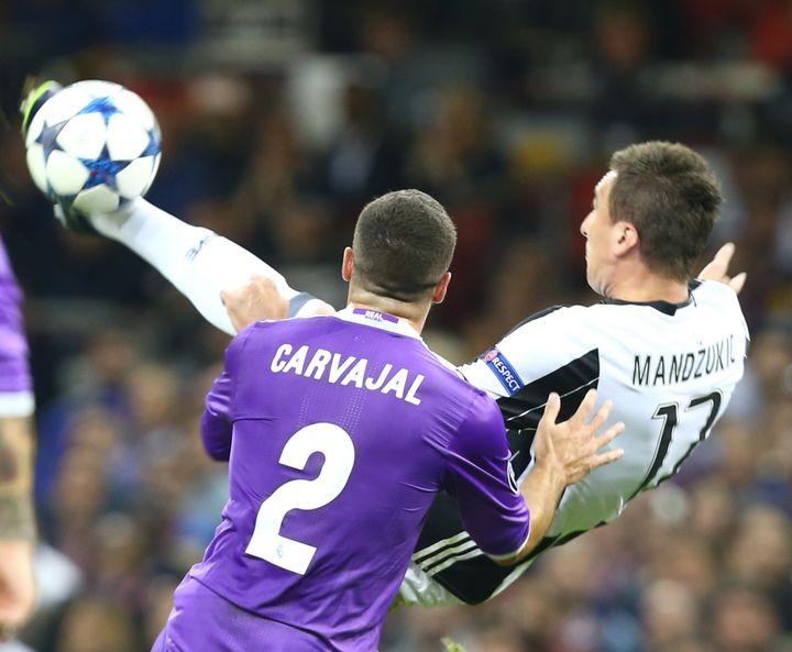 L'attaquant de la Juventus Mandzukic (KIERAN GALVIN / NURPHOTO)