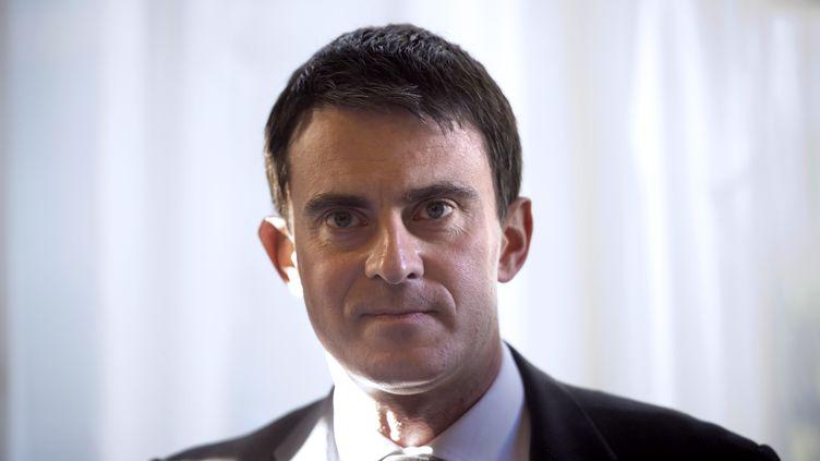 Le Premier ministre Manuel Valls, le 17 avril 2014 à Matignon (Paris). (LIONEL BONAVENTURE / AFP)
