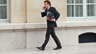 Emmanuel Macron à l'Elysée, en octobre 2012. Il est alors secrétaire général adjoint de la présidence, chef du pôle économie et finances. (BERTRAND LANGLOIS / POOL)