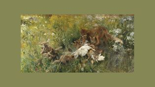 "Bruno Andreas Liljefors (1860-1939) ""Une famille de renards"", 1886, Stockholm, Nationalmuseum (Photo © : Nationalmuseum)"