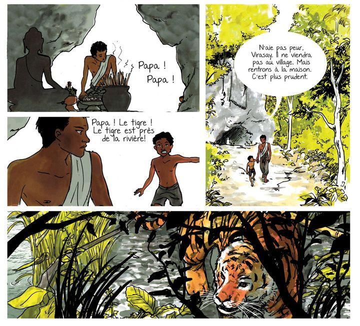 """""""Un million d'éléphants"""", page 7  (Vanyda)"""