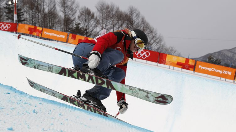 La skieuse hongroise Elizabeth Swaney lors des qualifications de ski halfpipe aux JO de Pyeongchang, lundi 19 février 2018. (ISSEI KATO / X90003)