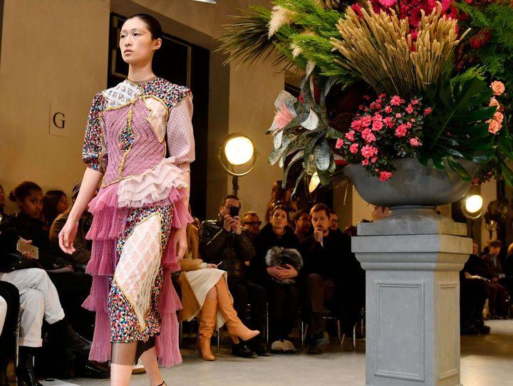 Viktor & Rolf haute couture printemps-été 2017, à Paris, janvier 2017  (Maitre/WWD/Shutterstock/SIPA)