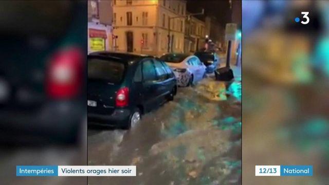 Intempéries : vingt départements français touchés par de violents orages