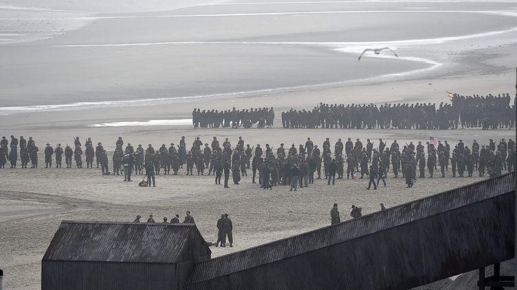 Tournage de Dunkirk de Christopher Nolan, à Dunkerque  (PHOTOPQR/VOIX DU NORD - )