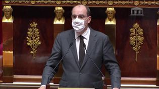 Le Premier ministre Jean Castex à l'Assemblée nationale, à Paris, le 29 octobre 2020. (FRANCEINFO)