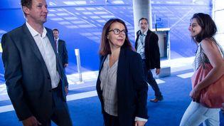 Campagne serrée entre Yannick Jadot et Cécile Duflot, deux des candidats à la primaire écologiste en vue de la présidentielle 2017 (VINCENT ISORE / MAXPPP)