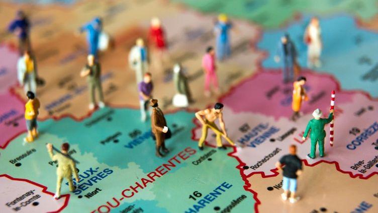 L'Assemblée nationale a adopté, en deuxième lecture, une carte de la France à 13 régions, mercredi 19 novembre 2014. (PHILIPPE HUGUEN / AFP)