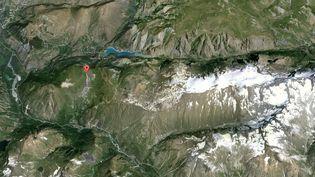 Une avalanche meurtière a eu lieu, le 13 janvier 2016, dans la station des Deux-Alpes (Isère). (GOOGLE MAPS)