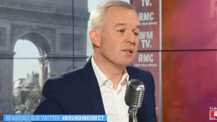 Le ministre de l'Ecologie, François de Rugy, sur BFMTV, le 24 juin 2019. (BFMTV)