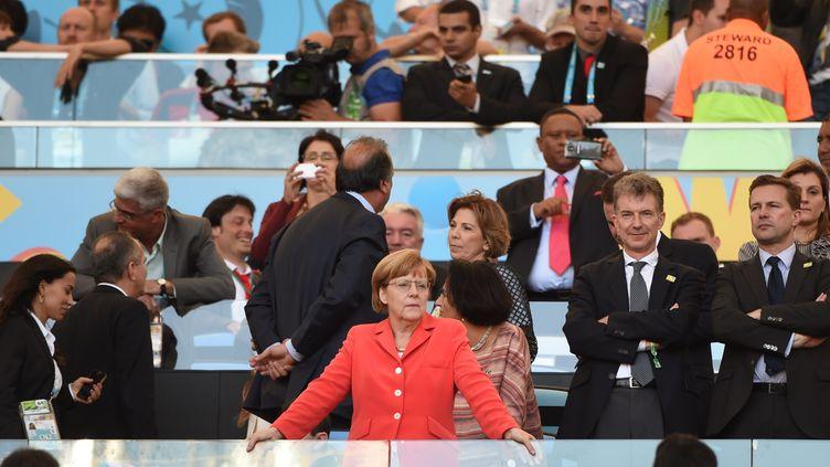 La chancelière allemande Angela Merkel (PATRIK STOLLARZ / AFP)
