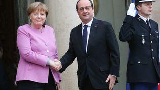 Angela Merkerl et François Hollande à l'Elysée, le 4 mars 2016. (MAXPPP)