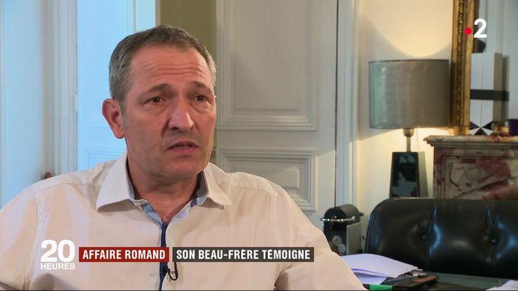 Emmanuel Crolet, le beau-frère de Jean-Claude Romand, interrogé par France 2, dans un entretien diffusé le 17 septembre 2018. (FRANCE 2)