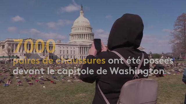 États-Unis : hommage aux enfants tués par armes à feu devant le Capitole