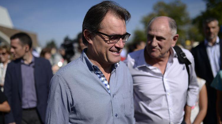 Le président du gouvernement régional de Catalogne, Artur Mas, le 11 octobre 2014. (JOSEP LAGO / AFP)