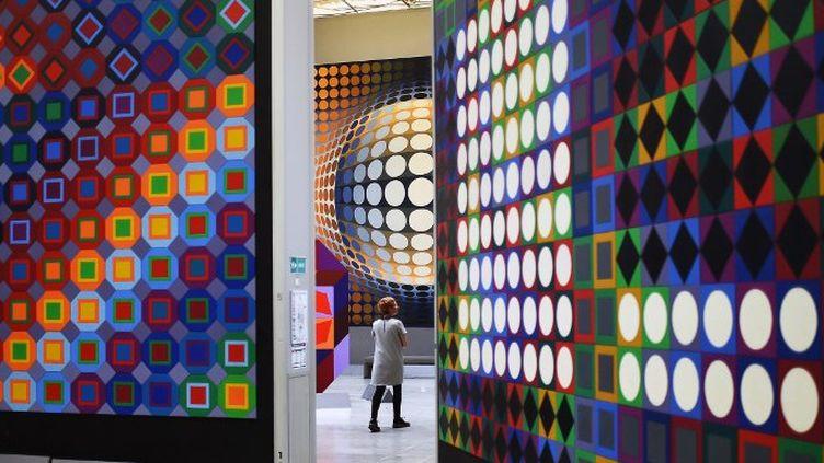 Oeuvres de Vasarely à la fondation d'Aix-en-Provence  (ANNE-CHRISTINE POUJOULAT / AFP)