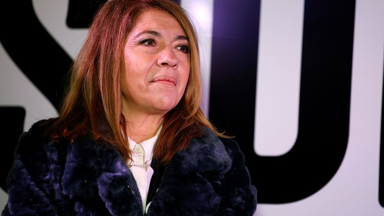 La présidente du groupe France Médias Monde, Marie-Christine Saragosse, lors de l'inauguration d'une exposition Gare de Lyon à Paris, le 5 mars 2017. (BENJAMIN CREMEL / AFP)