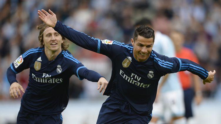 Cristiano Ronaldo lors de la victoire du Real Madrid contre le Celta Vigo (3-1) (MIGUEL RIOPA / AFP)