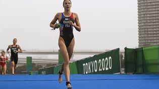 Cassandre Beagrand lors du triathlon dames, le 27 juillet 2021. (CROSNIER JULIEN / KMSP via AFP)