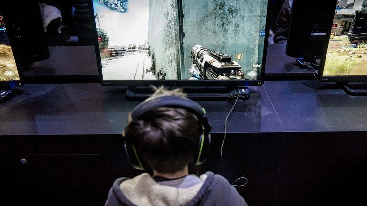Le stand Call of Duty au salon Paris Game Week de la porte de Versailles, le 28 octobre 2014 (illustration). (CHRISTOPHE PETIT TESSON / MAXPPP)
