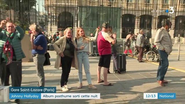 Johnny Hallyday : l'album est en écoute libre sur le parvis de la gare Saint-Lazare