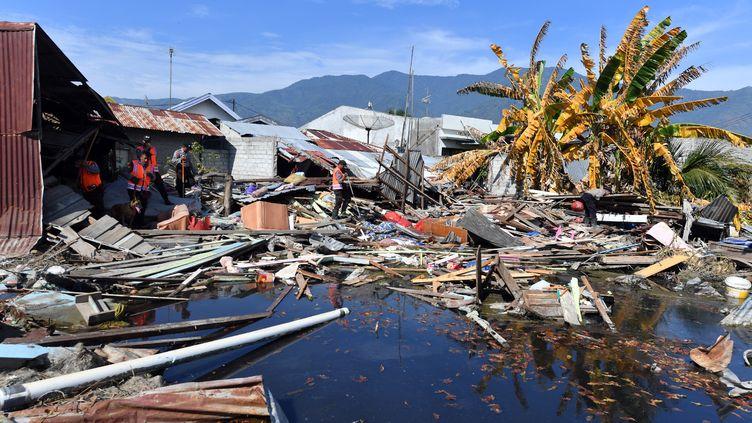 Les dégâts du séisme et du tsunami, le 5 octobre 2018, àPalu en Indonésie. (ADEK BERRY / AFP)